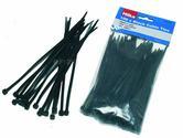 Hilka Trade Quality Nylon Cable Ties Black 100 3.6mm x 150mm HIL79200150