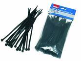 Hilka Trade Quality Nylon Cable Ties Black 100 4.8mm x 200mm HIL79250200