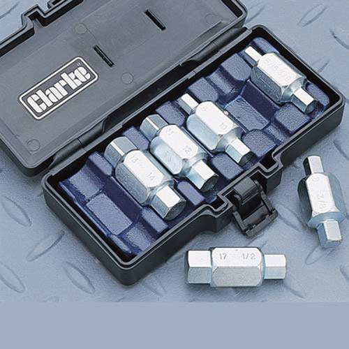 Clarke CHT220 Oil Drain Plug Hex Key Set Kit