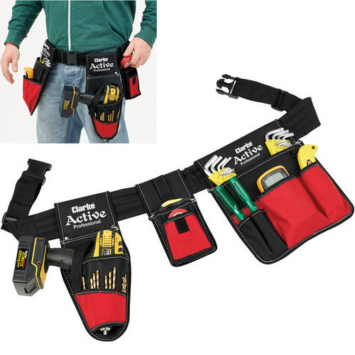 Clarke CHT786 Heavy Duty Tool Belt With Holster