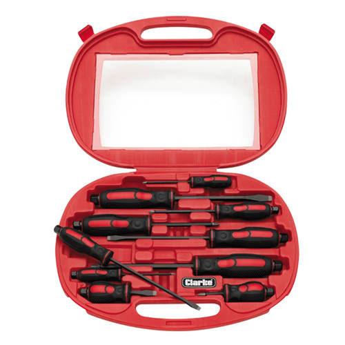 Clarke PRO122 - 10 Piece Pro Screwdriver Set