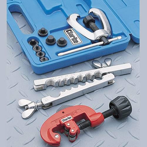 "Clarke CHT229 Brake Pipe Flaring & Cutting Kit 7 sizes 3/16 - 5/8"" cutter 3-30mm"