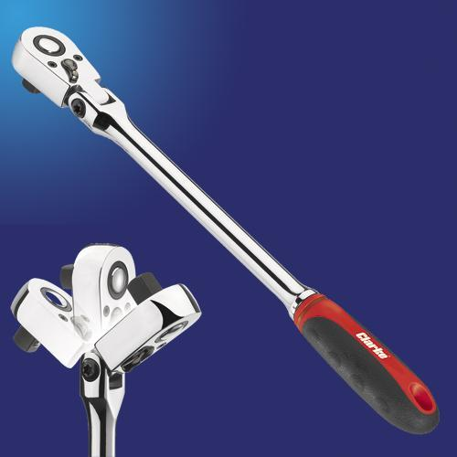 Clarke PRO159 3/8? Swivel Head Ratchet Wrench Long Bar (292mm Long)