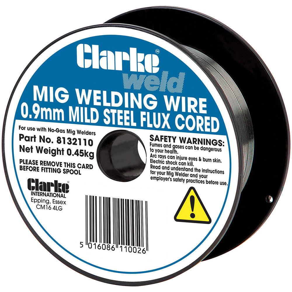 Clarke Mild Steel Mig Welding Wire 0.9mm (Flux Cored - No Gas - 0.45kg)