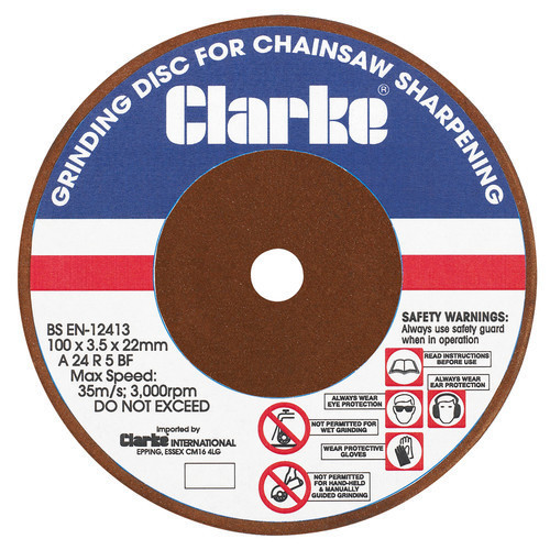 Clarke ECSS2 Chain Saw Sharpener Replacement Grinding Disc Part 3402079