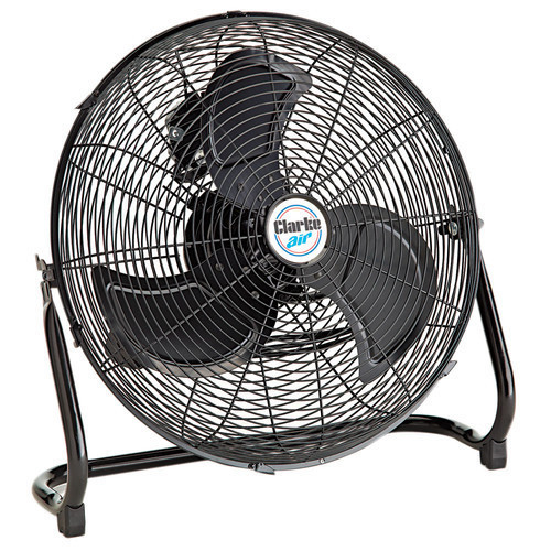 "CLARKE CFF18B 18"" High Velocity Floor Fan 140W 230V Motor with 3 Speed Control"