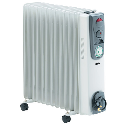 CLARKE 2500 Watts 13 Fin Oil Filled Radiator 230 volts OFR13/250 3 settings