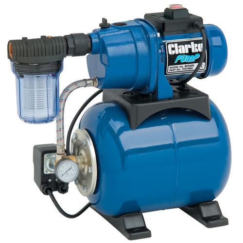 Clarke BPT600 Electric 1? Booster Pump 50 l/min 19 ltr tank 600 Watts, 230V 1ph