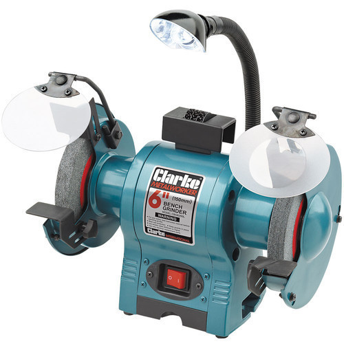 Clarke CBG6250L 6? Bench Grinder With Lamp 2850rpm 250W, 230V 2 wheels included