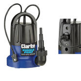 "Clarke PSP125B 400W Puddle Pump + Auto Sensor 116l/min rated  Outlet: 11/2"" BSP"