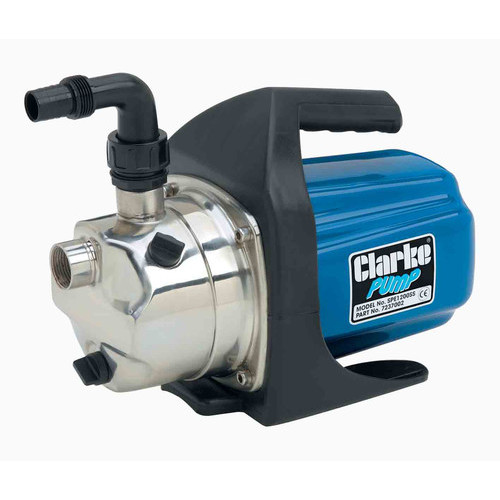 CLARKE Electric Water Pumo 1? output elbow 230V 61 L/Min 1ph motor