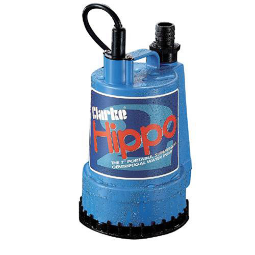 "Clarke Hippo2  1"" Submersible Water Pump 250 W 230v 1ph motor 85 L/min 6M Lift"