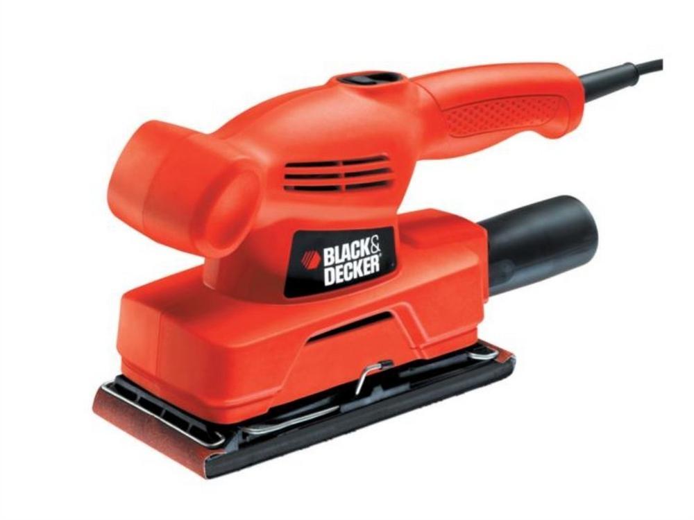 BLACK & DECKER KA300-GB 240V 135W 1/3rd Sheet Sander sands flush to three sides