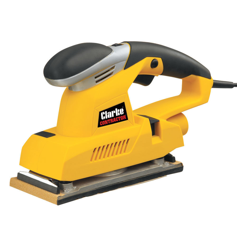 Clarke CON300 1/2 Sheet Orbital Sander 330W 6 speeds 6,000 - 11,000rpm Dust bag