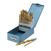 Clarke CHT348 30 piece Metric Titanium Drill Bit Set inc storage case