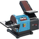 Clarke CS48 Belt And Disc Sander 550W Table Angle 0-45° Mitre guide 0 - 60° 230V
