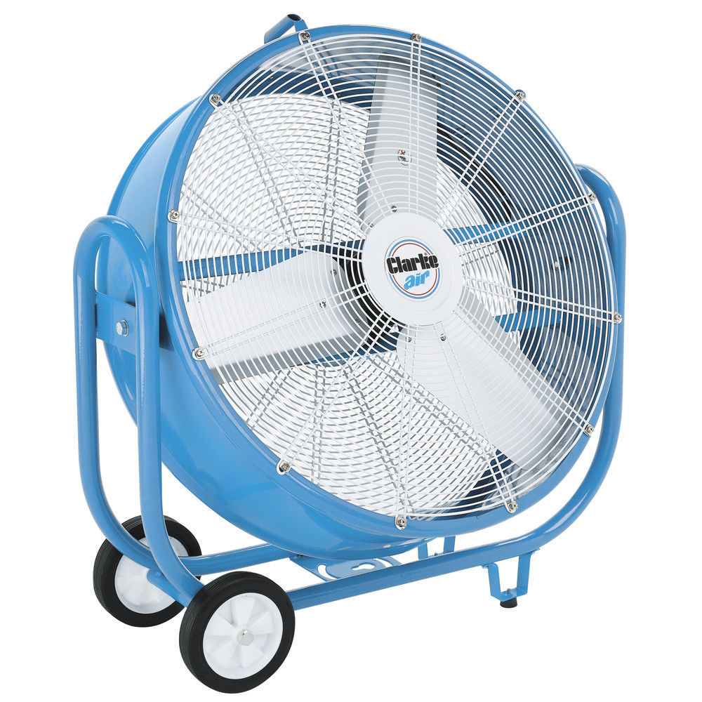 "Clarke CAM6000 30"" Drum Barrel Fan 350 watt variable 3 speed tilts 300°"