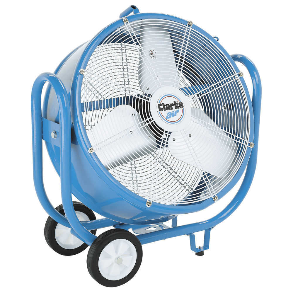 "Clarke CAM5002 24"" Drum Barrel Fan 250 watt variable 3 speed tilts through 300°"