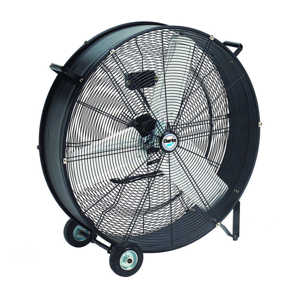 "Clarke CAM30 30"" Drum/Barrel Fan 350W 2 speed control 760mm diameter 16.7 kg"