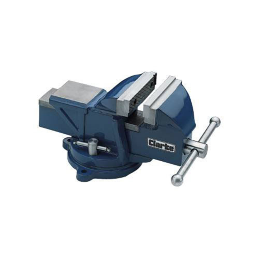 Clarke CVR100B 100mm Bench Vice with Swivel Base Weight 6.7Kg