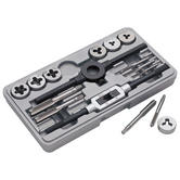Clarke CHT203 16 Piece Tungsten Steel Tap & Die Set from 3 x 0.5mm - 12 x 1.75mm