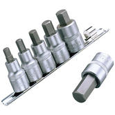 "Clarke PRO375 6-Pce 1/2"" Drive HEX Bit Set chrome molybdenum Lifetime Guarantee"