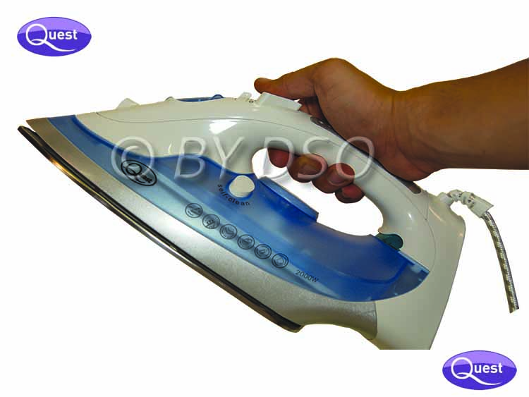 how to clean a steam iron plate