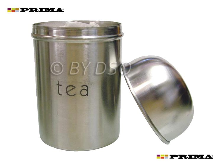Prima 3 Piece Stainless Steel Canister Set Coffee Tea