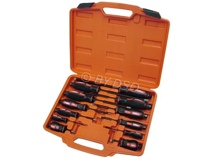 Hilka 12 Pc Mechanics Screwdriver Set with S2 Steel Tips HIL37999912