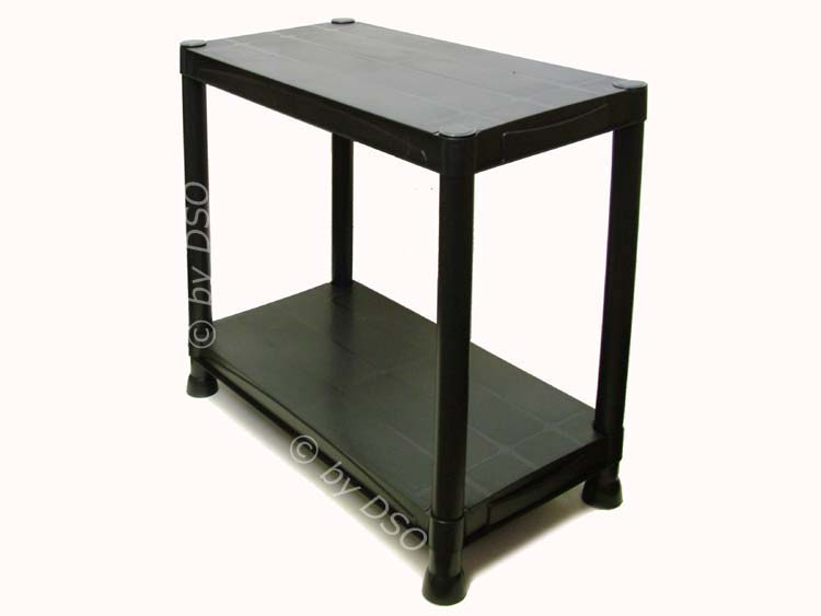 4 tier black plastic shelving storage unit 80kgs su101 ebay. Black Bedroom Furniture Sets. Home Design Ideas