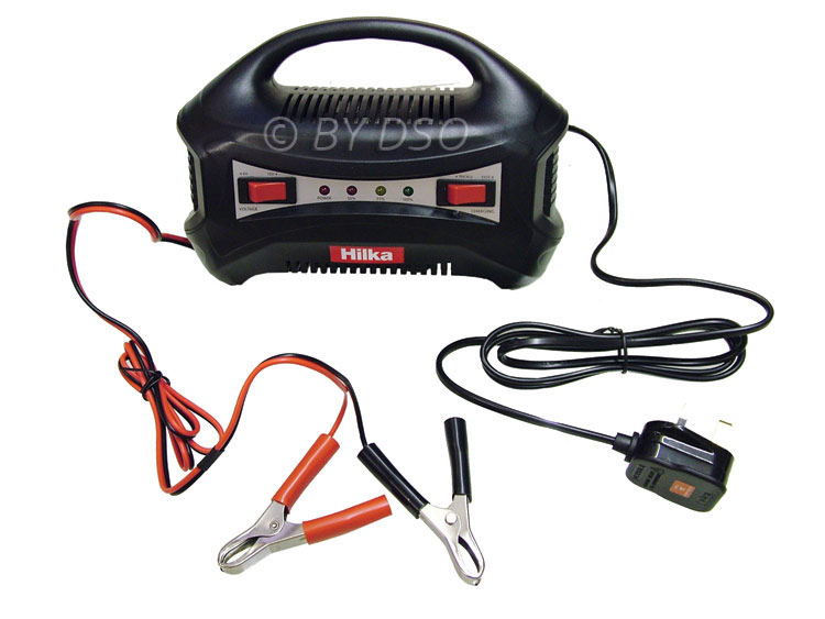 Hilka Portable 6/12V 8Amp Automatic RMS Battery Charger HIL83500008