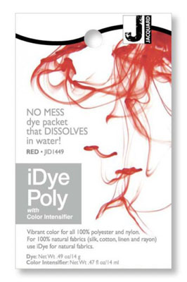 Jacquard iDye Fabric Dye Poly & Nylon 14g  - Red