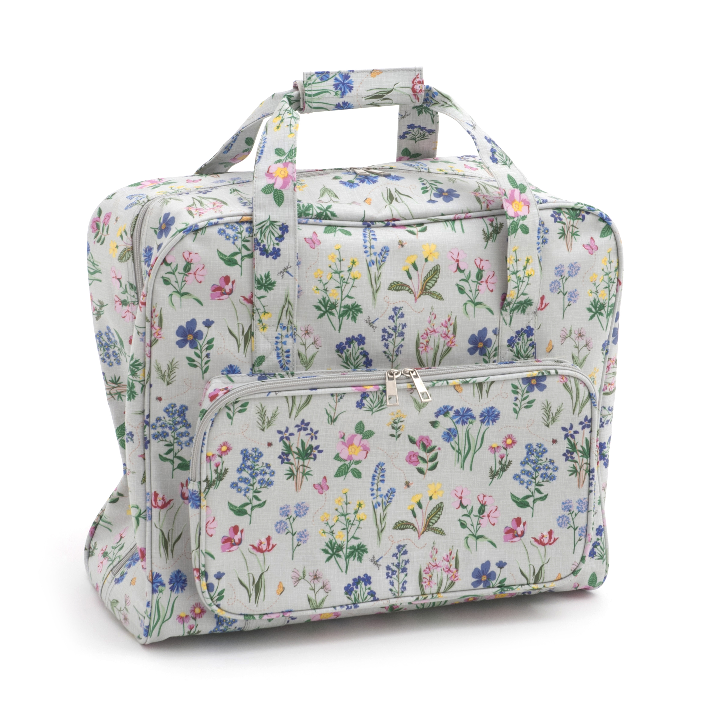Sewing machine bag carry storage for a