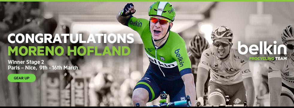 CONGRATULATIONS MORENO HOFLAND - Winner Stage 2 - Paris-Nice, 9th-16th March