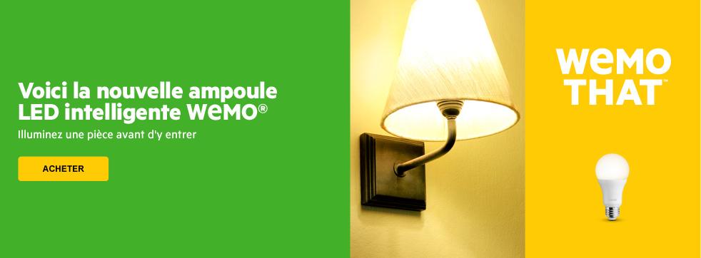 Voici la nouvelle ampoule LED intelligente WEMO. Illuminez une pi�ce avant d'y entrer.