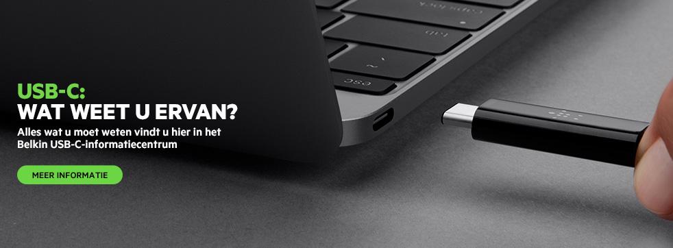 Alles wat u moet weten vindt u hier in het Belkin USB-C-informatiecentrum.