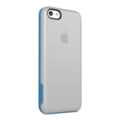 Grip Candy-etui voor iPhone 5c - Transparant/lichtblauw