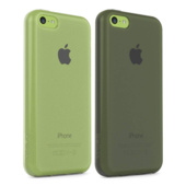 �tui Grip Sheer Matte pour iPhone 5c, pack de 2 - Pierre/Transparent