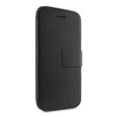 Portefeuille-etui met standaard voor iPhone 5c - Asfaltzwart
