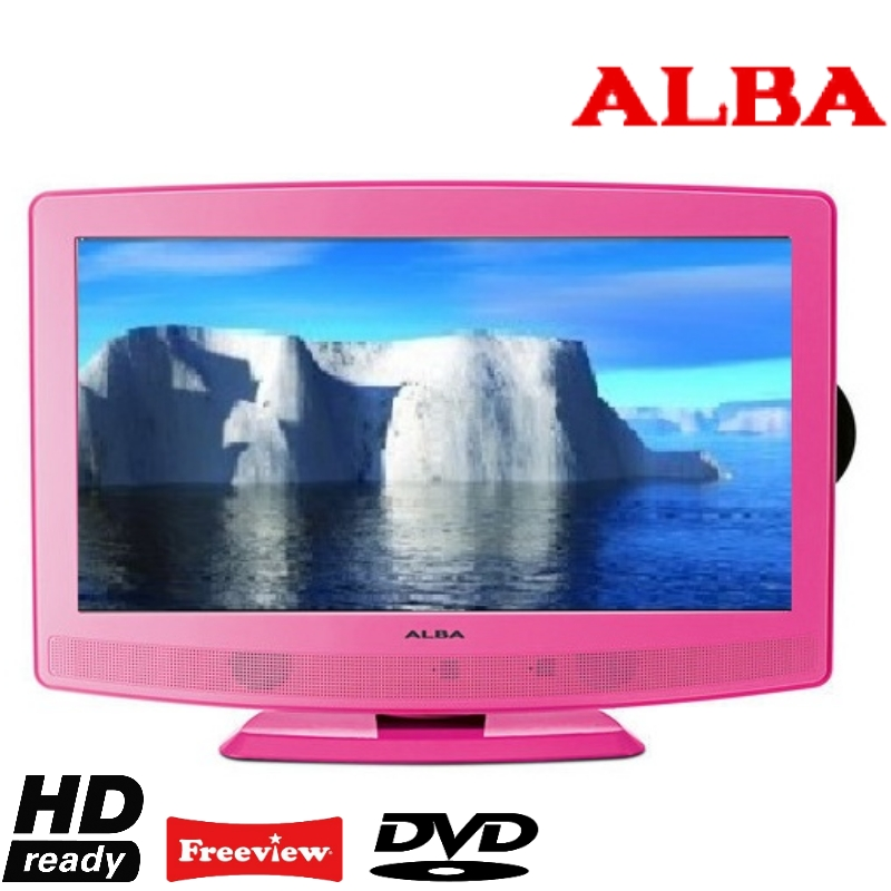 alba atvd91186p 19 lcd tv dvd combi hd ready with roi tuner hdmi input pink ebay. Black Bedroom Furniture Sets. Home Design Ideas