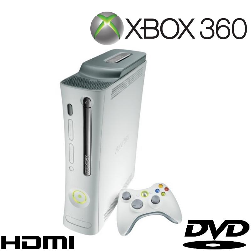 XBOX 360 GO PRO GAMES CONSOLE 60GB HDD HD GRAPHICS HDMI INPUT - MATTE    Xbox 360 Pro Hdmi