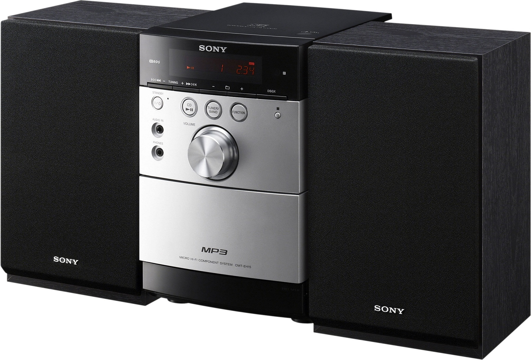 sony cmteh15b micro system cd player radio cassette mp3. Black Bedroom Furniture Sets. Home Design Ideas