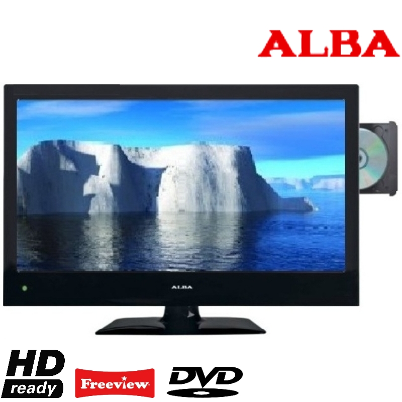 alba aelkdvd2288 22 led tv dvd combi hd ready freeview usb port black ebay. Black Bedroom Furniture Sets. Home Design Ideas
