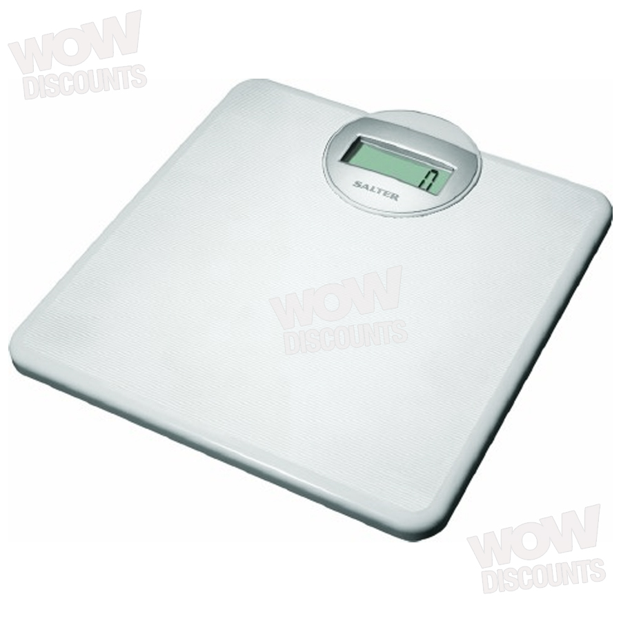 details about salter 9000 white electronic bathroom scale new