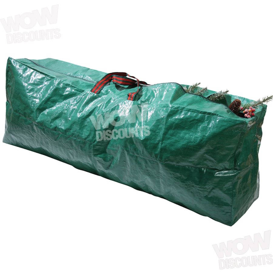 christmas tree bag zip up sack storage up to 9ft tall xmas trees ebay. Black Bedroom Furniture Sets. Home Design Ideas