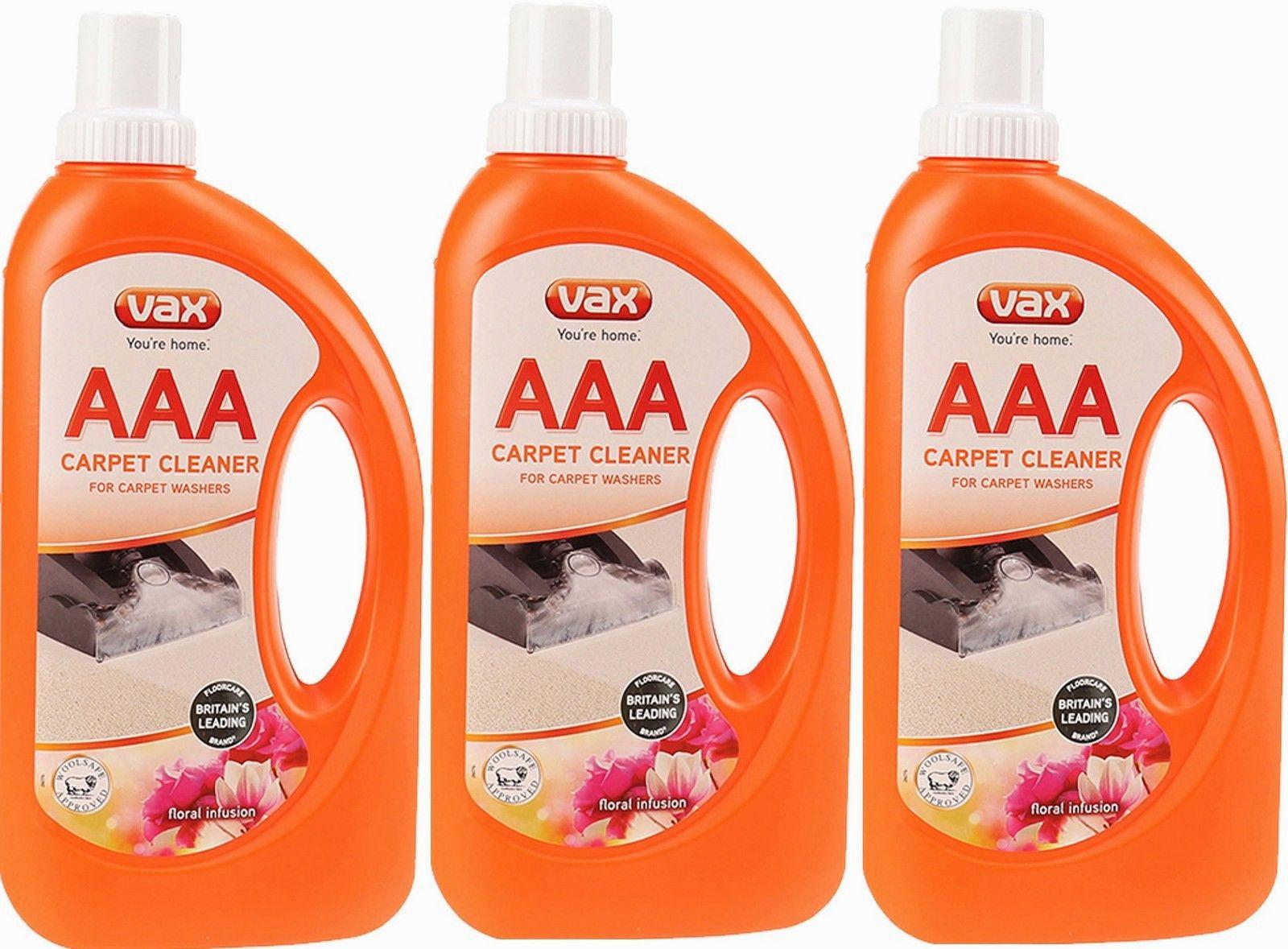 3 x vax aaa improved carpet formula cleaning solution shampoo 750ml ebay - Vax carpet shampoo stockists ...