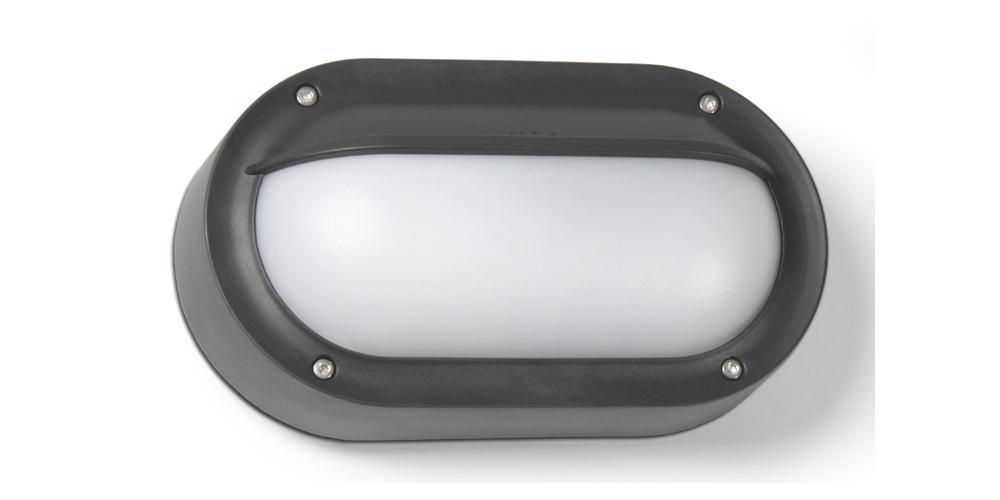 Contemporary Outdoor IP65 Bulkhead Light Fitting In Urban Grey HP057118 EBay