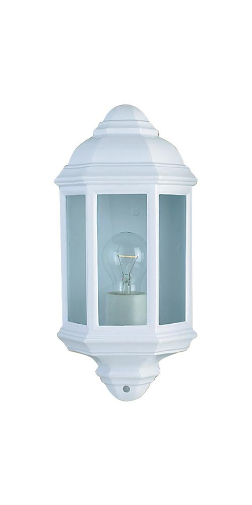 Traditional Outdoor White Coach Lantern Light in Cast