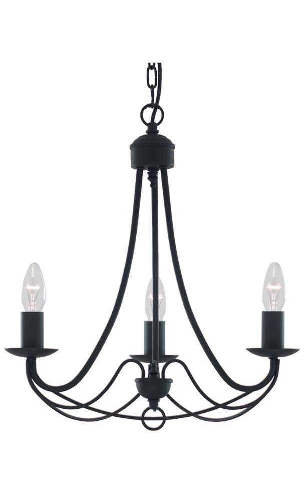traditional wrought iron pendant lighting fixture in matt. Black Bedroom Furniture Sets. Home Design Ideas