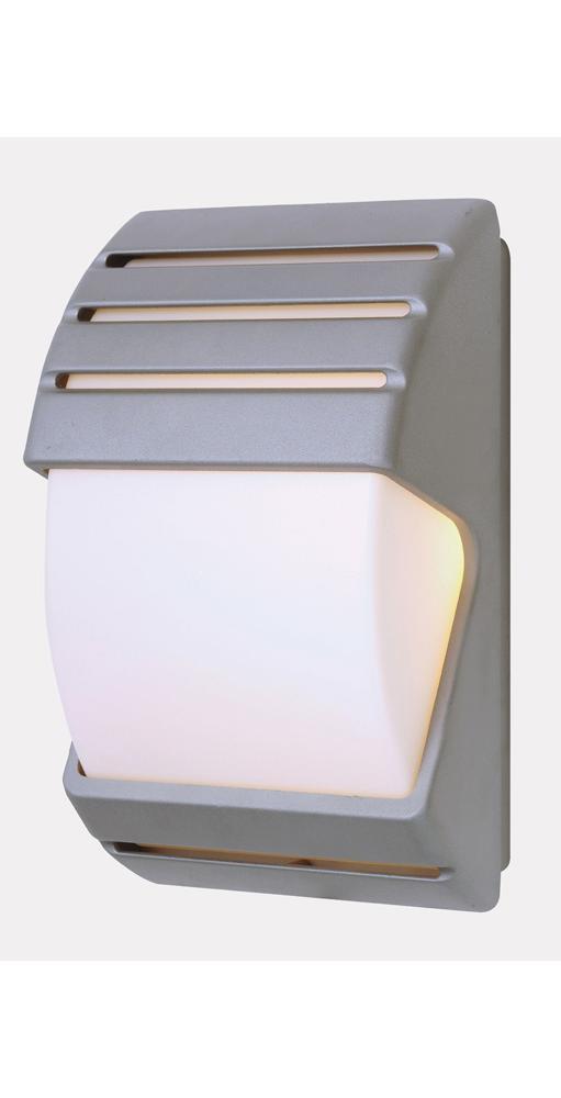 Silver Outside Dusk Till Dawn Low Energy Wall Light ...